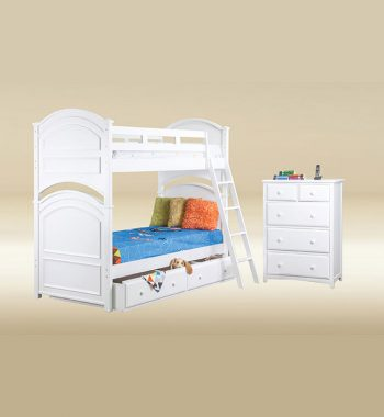 Twin Over Twin Arch Bunk Bed Set