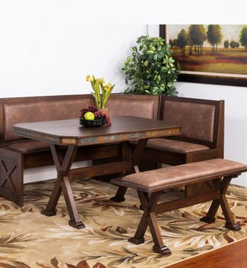 Savannah Breakfast Nook Set with Side Bench