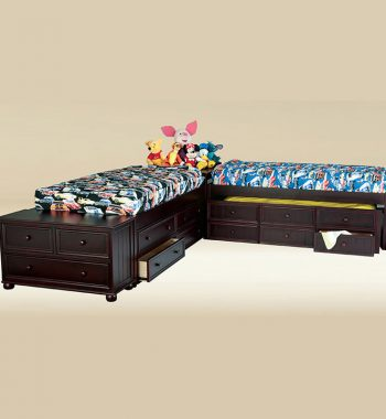 Twin Size Panel Bed Set