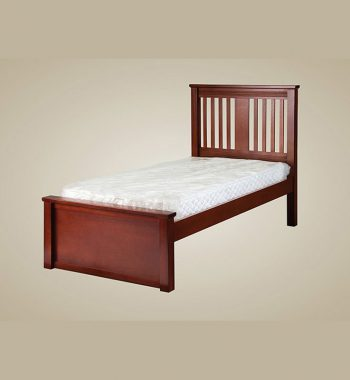 Boston Twin Size Bed in Dark Pecan