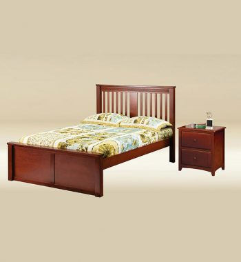 Boston Full Size Bed in Dark Pecan