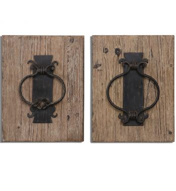 Rustic Door Knockers Wall Art