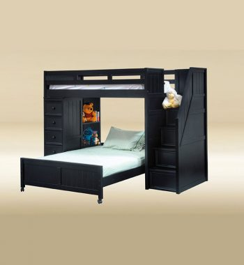 Twin Full Loft Bed in Black