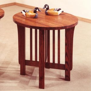 Mission Round End Table