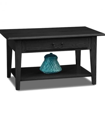 Shaker Solid Oak Drawer Coffee Table Black