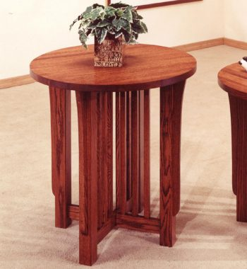 Mission Tall Round End Table