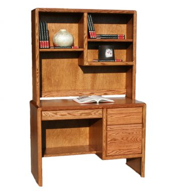 Modern Oak Junior Desk and Hutch