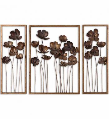 Metal Tulips Wall Art