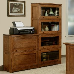 "Mission Lawyer Bookcase with Glass Doors - 70""H"