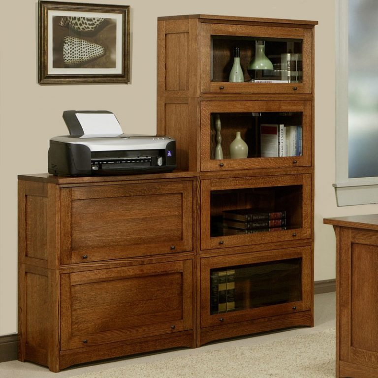 Mission Lawyer Bookcase With Glass Doors 70 Quot H Barr S