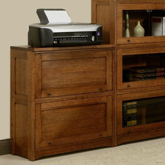 """Mission Lawyer Bookcase - 33""""H"""