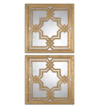 Piazzale Gold Square Mirrors