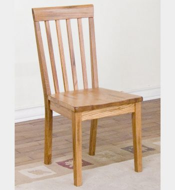 Sedona Slat Back Chair with Wooden Set - Set of 2