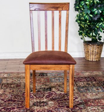 Sedona Slat Back Chair with Cushion Seat - Set of 2