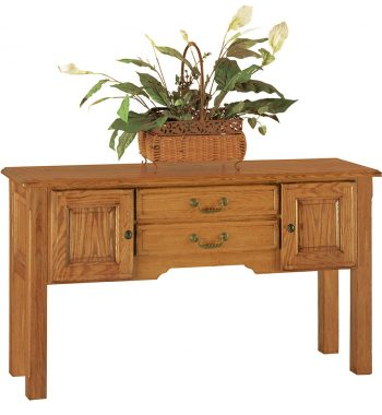 Heritage Light Oak 2 Drawer Sofa Table