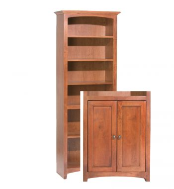 "McKenzie Alder Bookcase 72""H x 24""W with Doors"