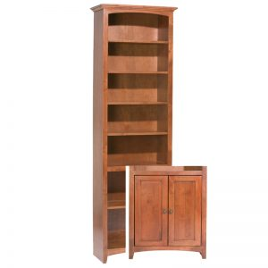 "McKenzie Alder Bookcase 84""H x 24""W with Doors"