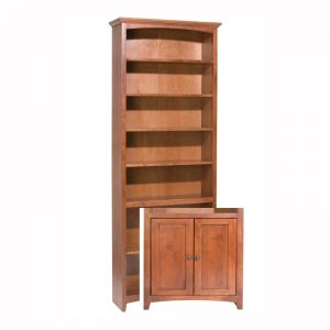 "McKenzie Alder Bookcase 84""H x 30""W with Doors"