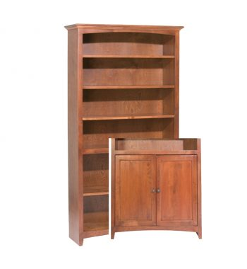 "McKenzie Alder Bookcase 72""H x 36""W with Doors"