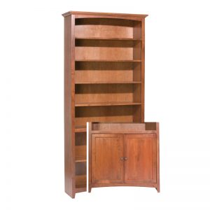 "McKenzie Alder Bookcase 84""H x 36""W with Doors"