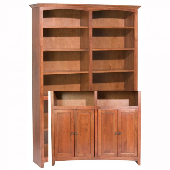 "McKenzie Alder Bookcase 72""H x 48""W with Doors"