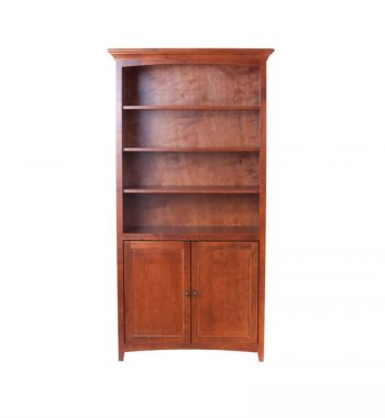 McKenzie Center Wall Unit Bookcase with Doors