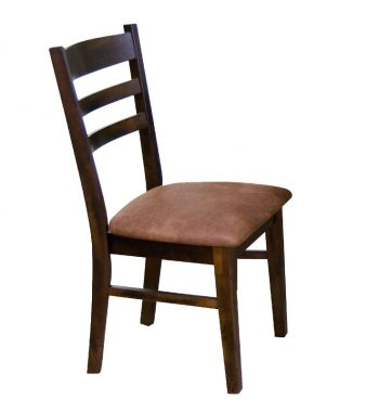 Ladderback Chairs with Cushion Seats - Set of 2