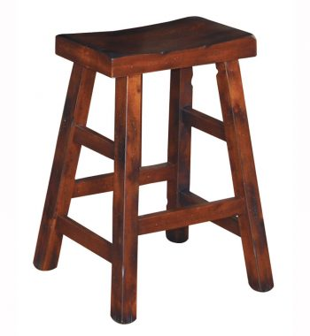 Santa Fe Saddle Seat Stool - Set of 2