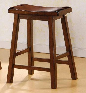 Dark Walnut Bar Stools (Set of 2)