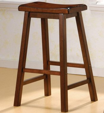 29 Inch Dark Walnut Bar Stools (Set of 2)