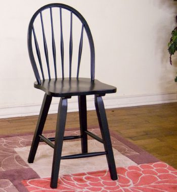 Black Bowback Stool - Set of 2