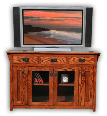 Mission Oak 56 Inch TV Console