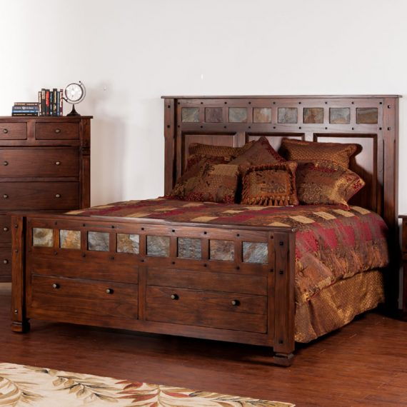 Santa Fe Eastern King Bed with Storage