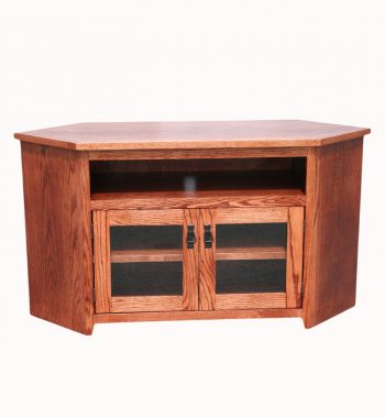 "Mission Oak 55"" Corner TV Console"