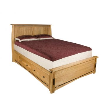 Solid Cherry East King Platform Bed