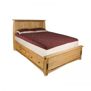 Solid Cherry Queen Platform Bed