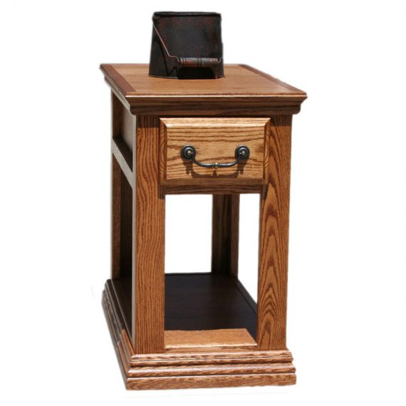 Traditional Oak Chair Side Table
