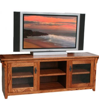Mission Oak 64 Inch TV Console
