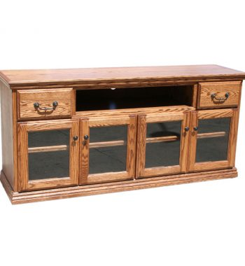 Traditional Oak 65 Inch TV Console