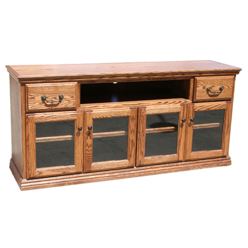 70 Best Online Furniture Stores: Traditional Oak 65 Inch TV Console