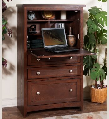 Cappuccino Laptop Armoire