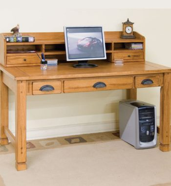 Sedona Laptop Writing Desk & Hutch