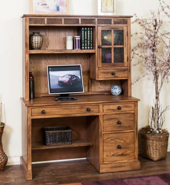 Sedona Single Pedestal Desk and Hutch