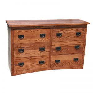 Mission Oak 6 Drawer Dresser