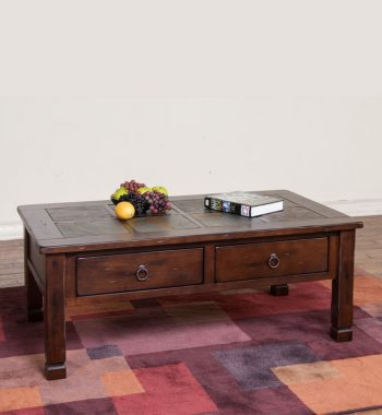 Santa Fe Coffee Table with Slate Top