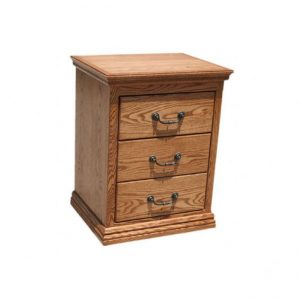 Traditional Oak 3 Drawer Night Stand