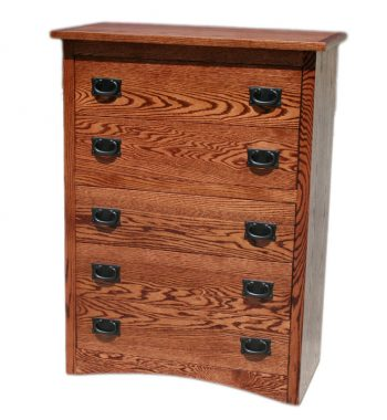 Mission Oak 5 Drawer Chest