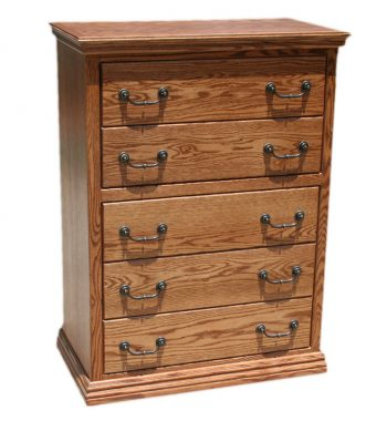 Traditional Oak 5 Drawer Chest