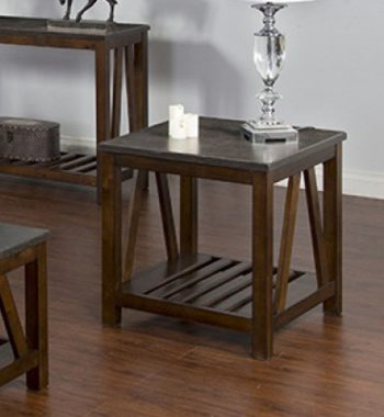 Blue Moon Stone Top End Table