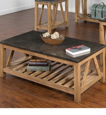 Blue Moon Stone Coffee Table